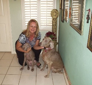 Dana with Gibbs & Greta